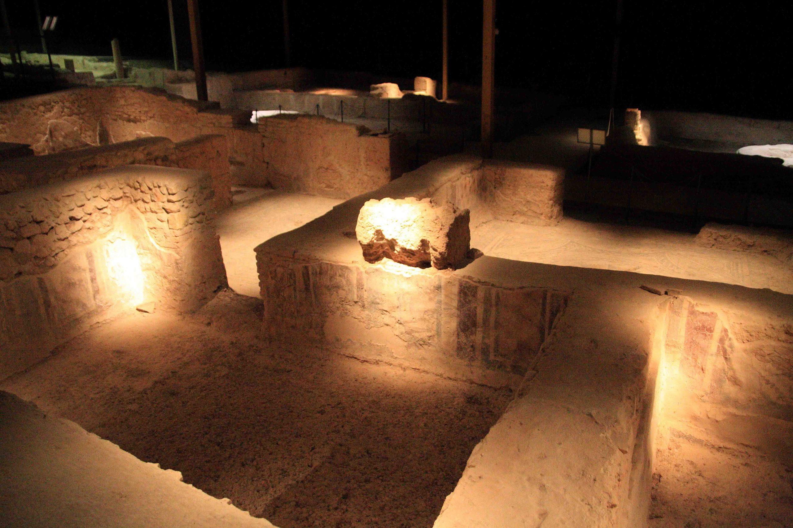 visitas nocturnas a la villa romana el ruedo de Almedinilla