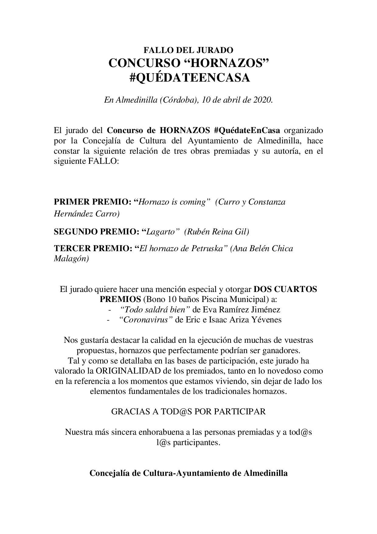 FALLO JURADO CONCURSO HORNAZOS 1