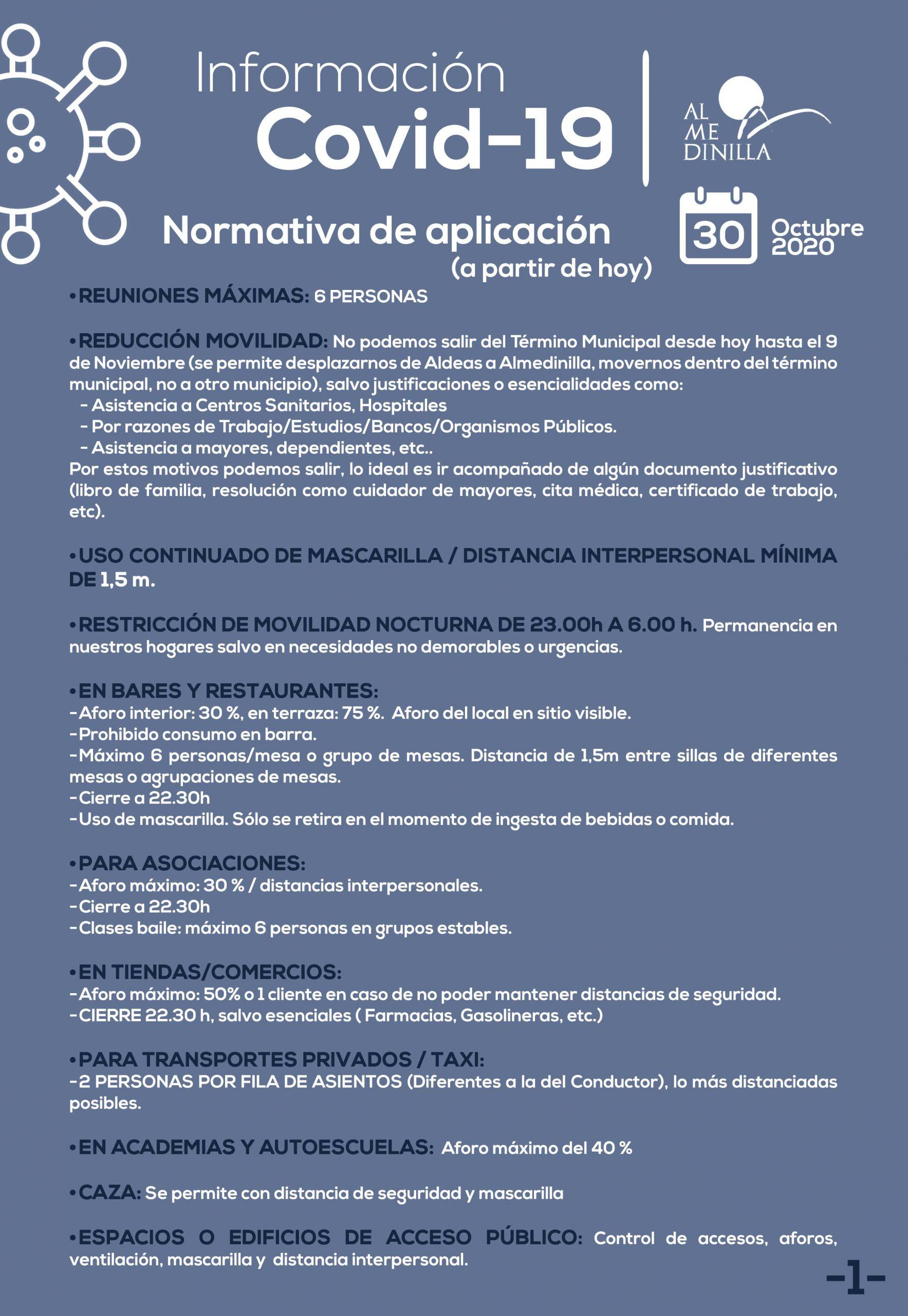 Comunicado Covid-19 a 30 de octubre 2020 1