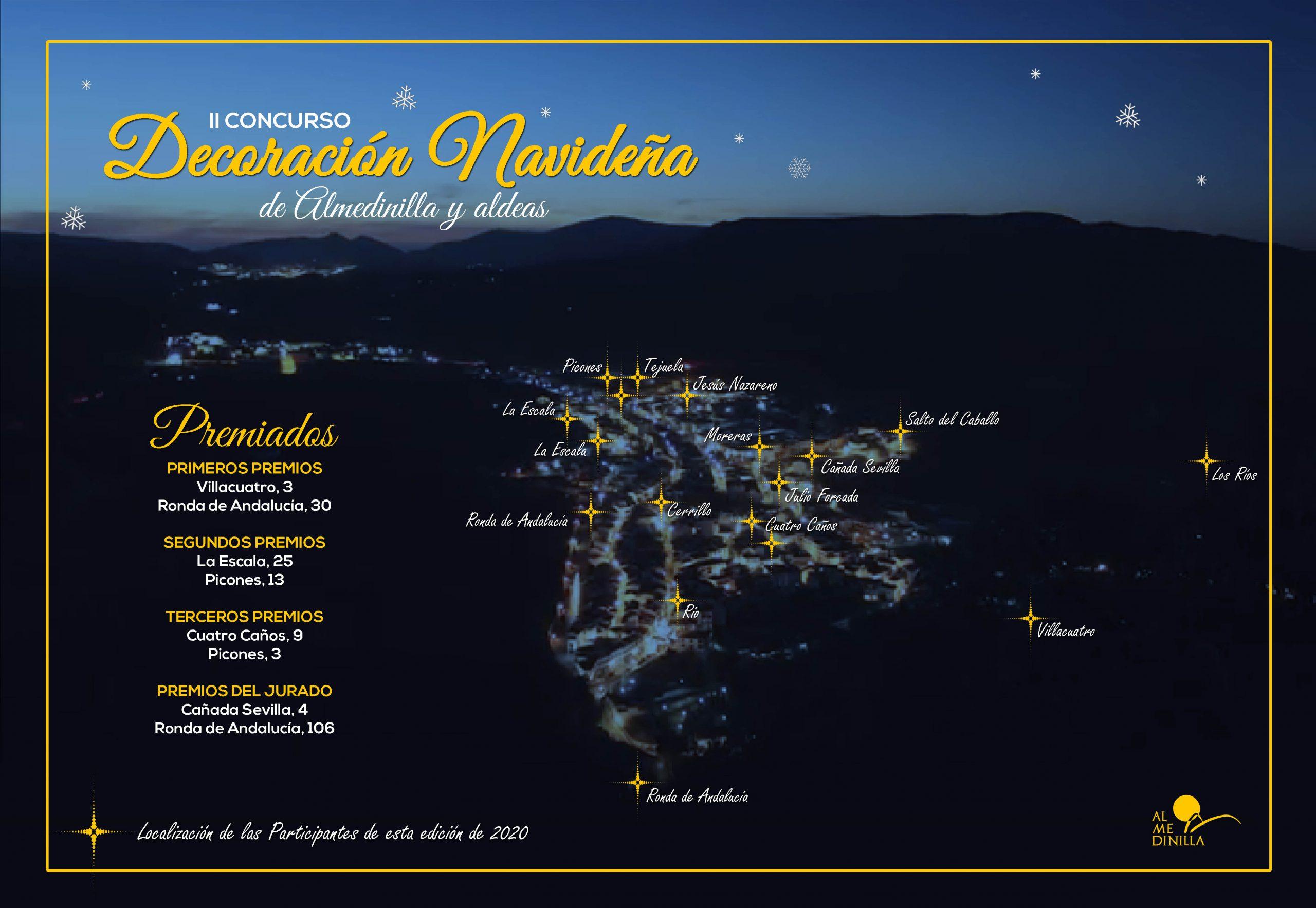 Ganadores del II Concurso de Decoración Navideña de Almedinilla y aldeas 1