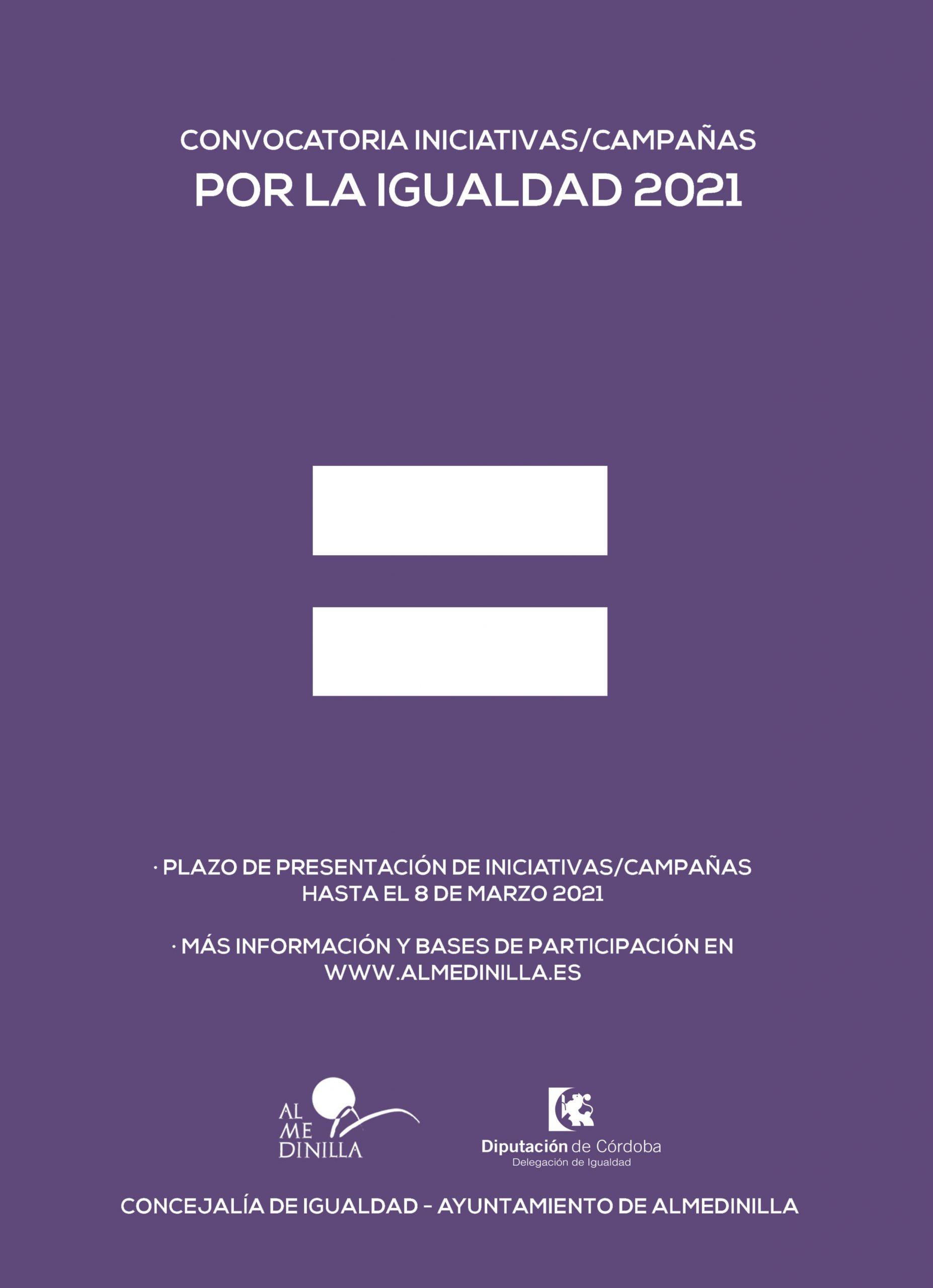 Cartel iniciativas campañas de igualdad