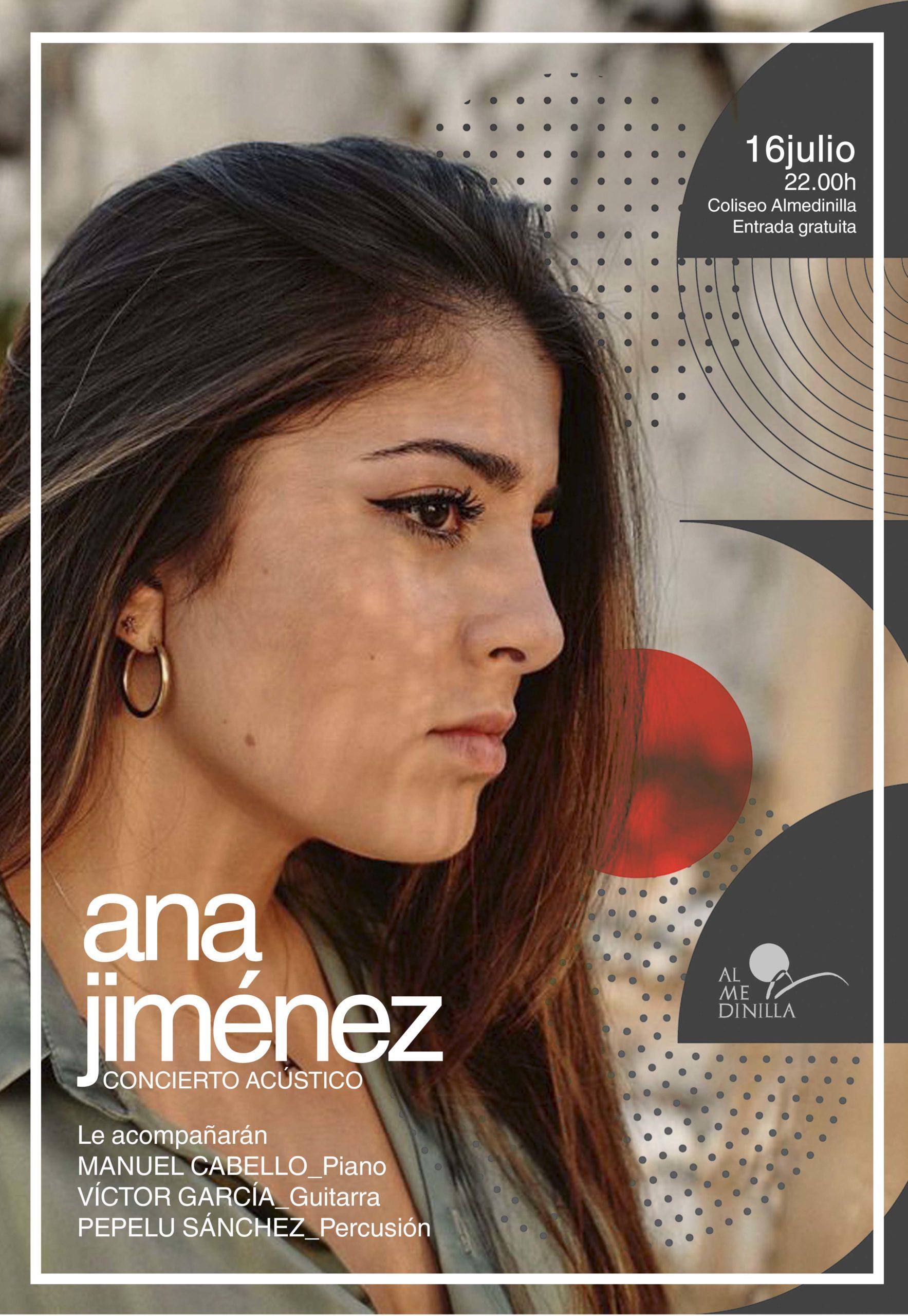 Cartel Ana Jiménez en concierto