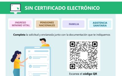 Tramitación prestaciones sin certificado digital